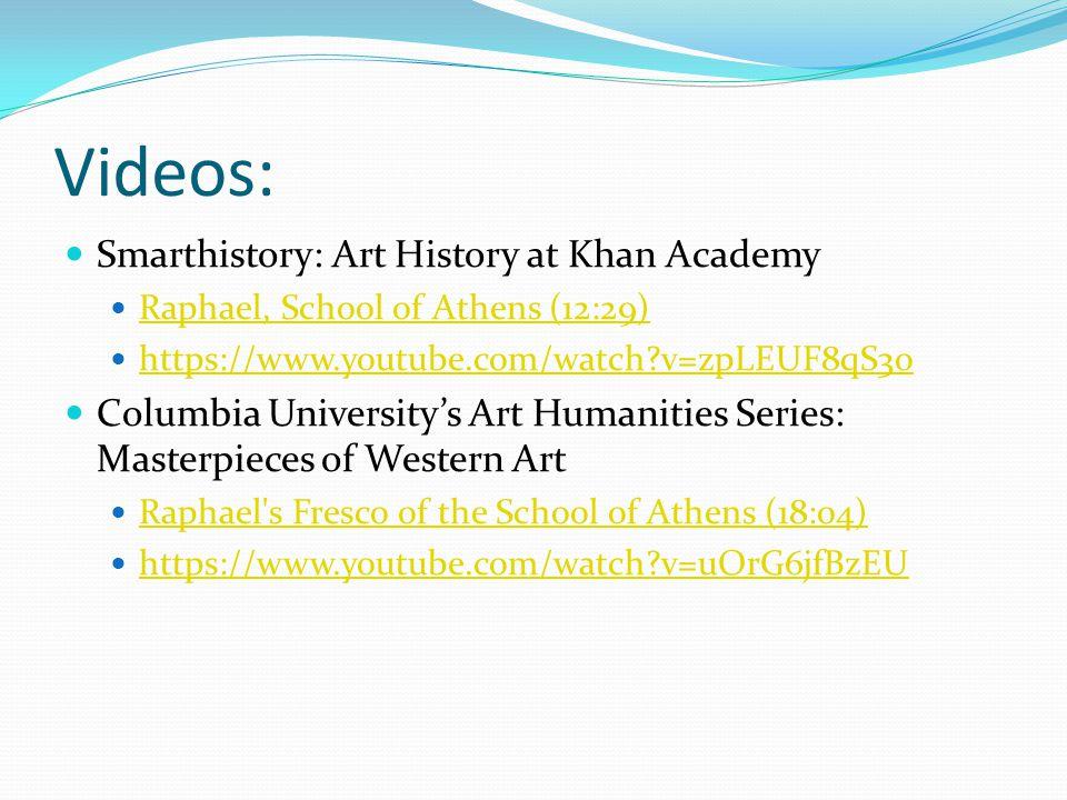 Videos: Smarthistory: Art History at Khan Academy