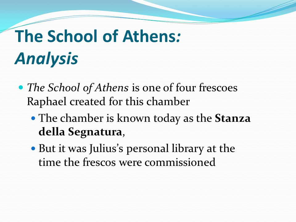 The School of Athens: Analysis