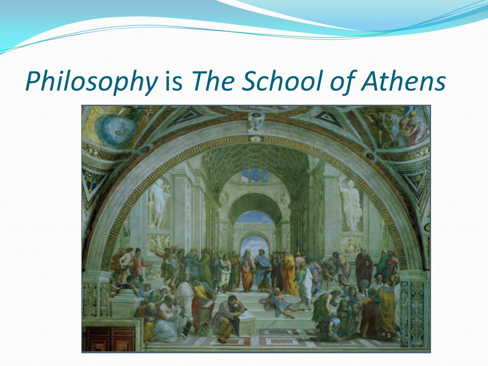 Philosophy is The School of Athens