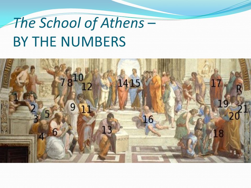The School of Athens – BY THE NUMBERS