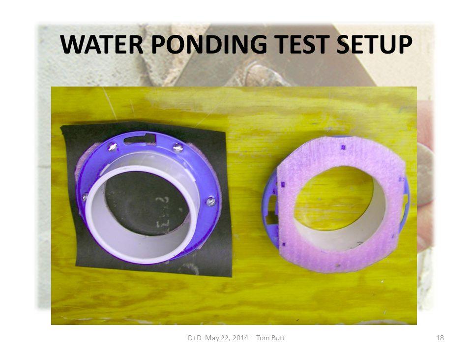 WATER PONDING TEST SETUP