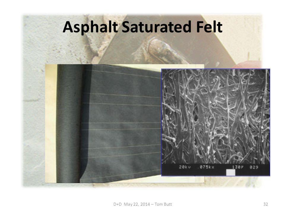 Asphalt Saturated Felt