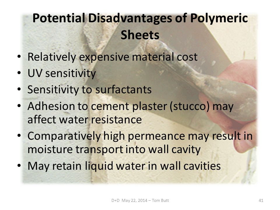 Potential Disadvantages of Polymeric Sheets