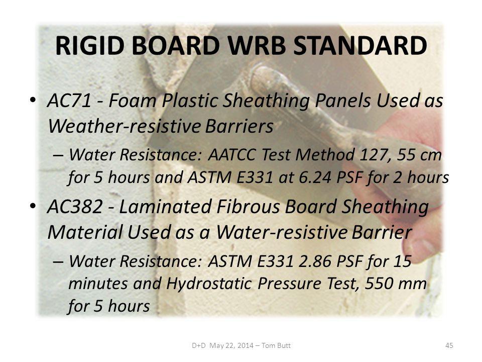 RIGID BOARD WRB STANDARD