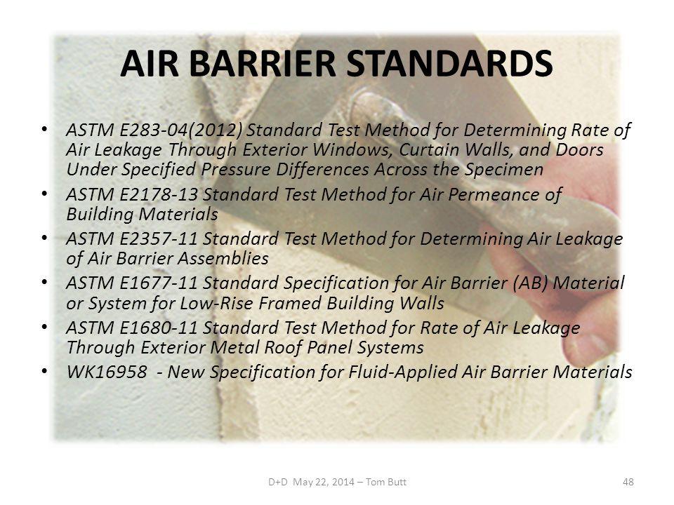 AIR BARRIER STANDARDS