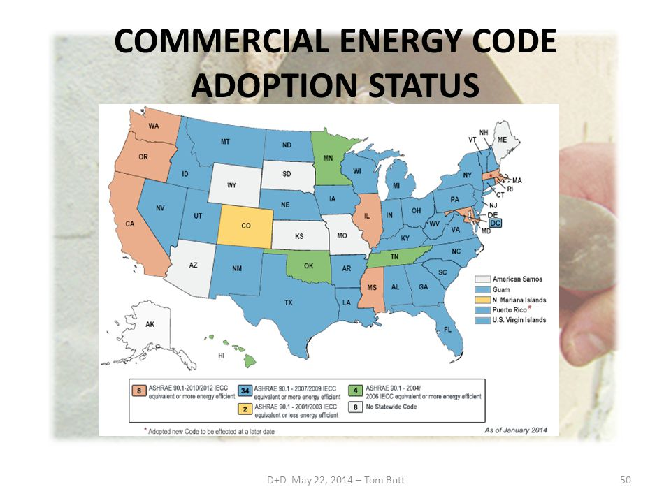 COMMERCIAL ENERGY CODE ADOPTION STATUS