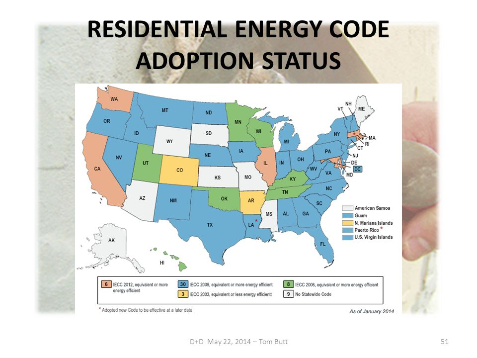 RESIDENTIAL ENERGY CODE ADOPTION STATUS