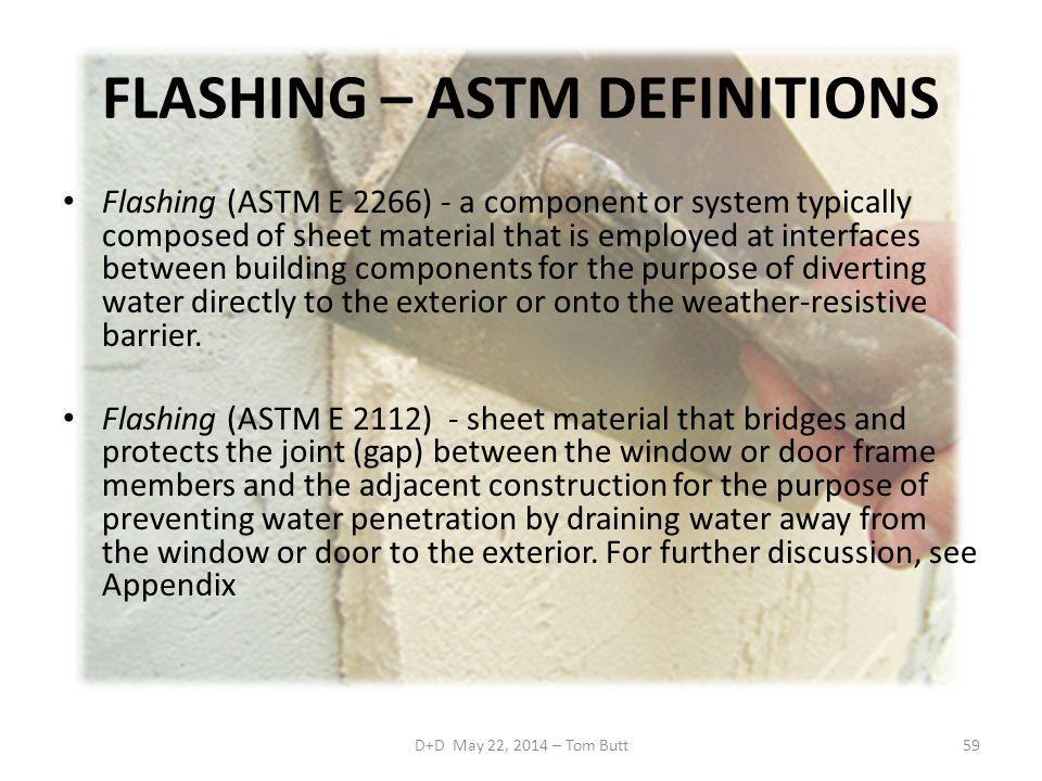 FLASHING – ASTM DEFINITIONS