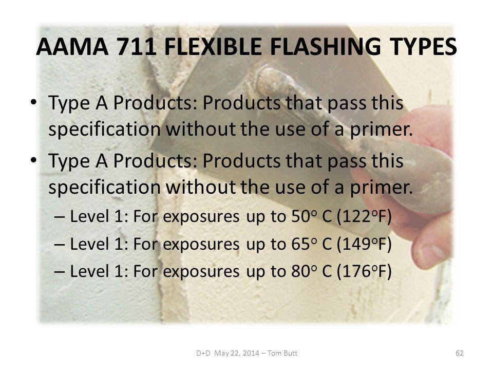 AAMA 711 FLEXIBLE FLASHING TYPES
