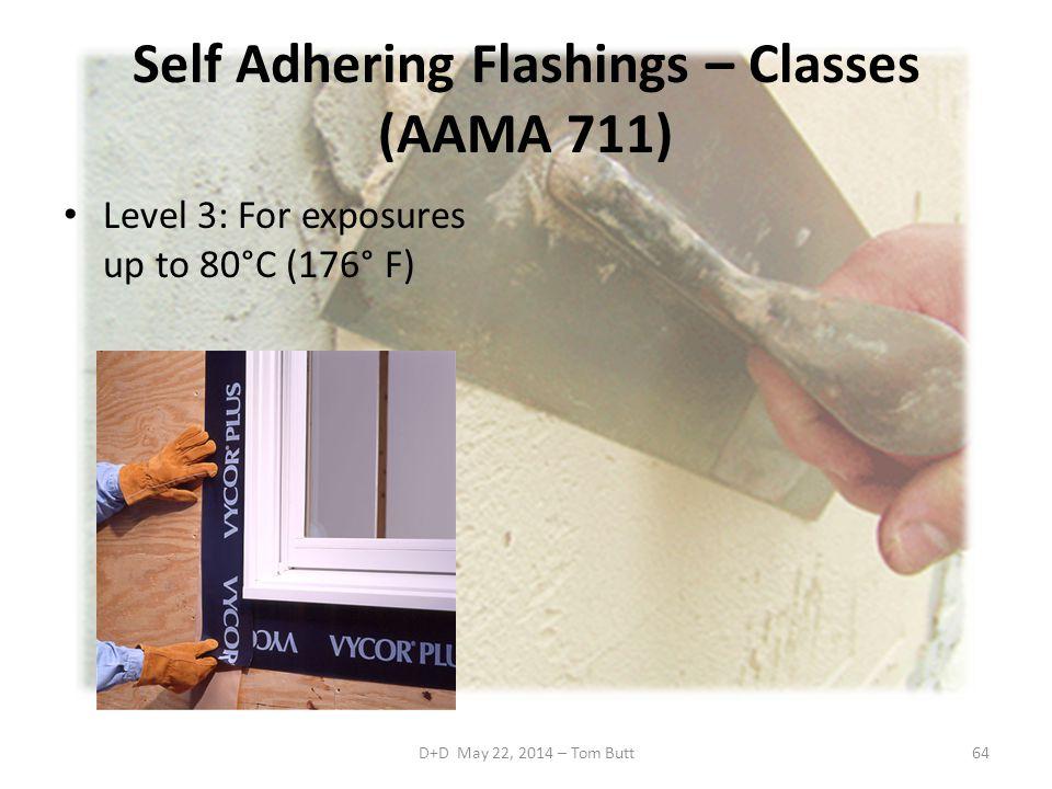 Self Adhering Flashings – Classes (AAMA 711)