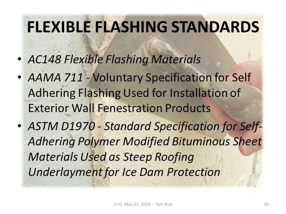 FLEXIBLE FLASHING STANDARDS