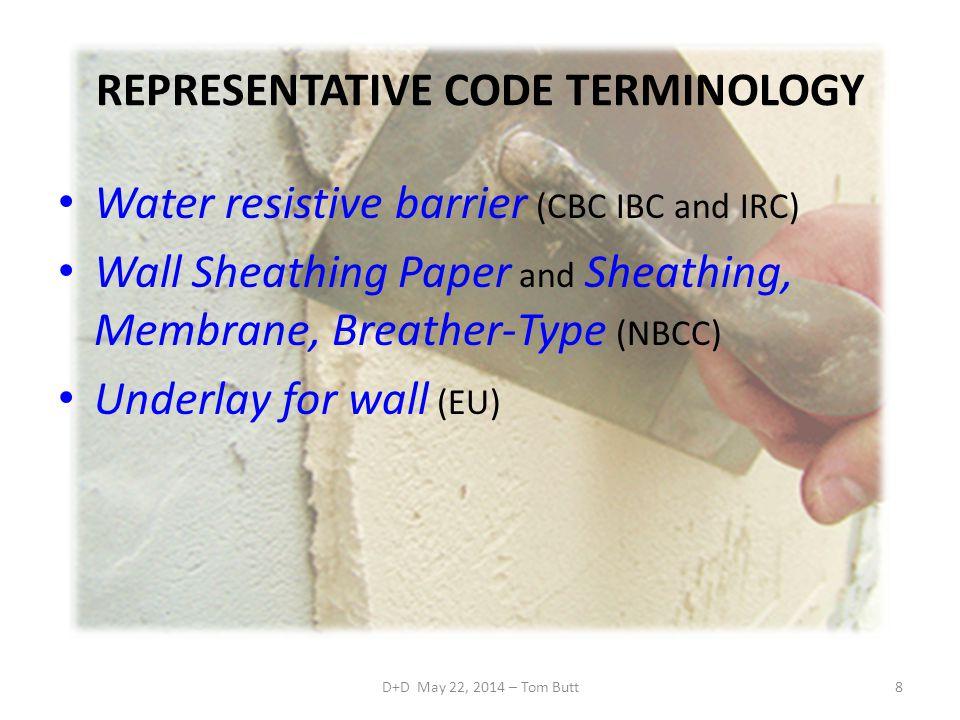 REPRESENTATIVE CODE TERMINOLOGY