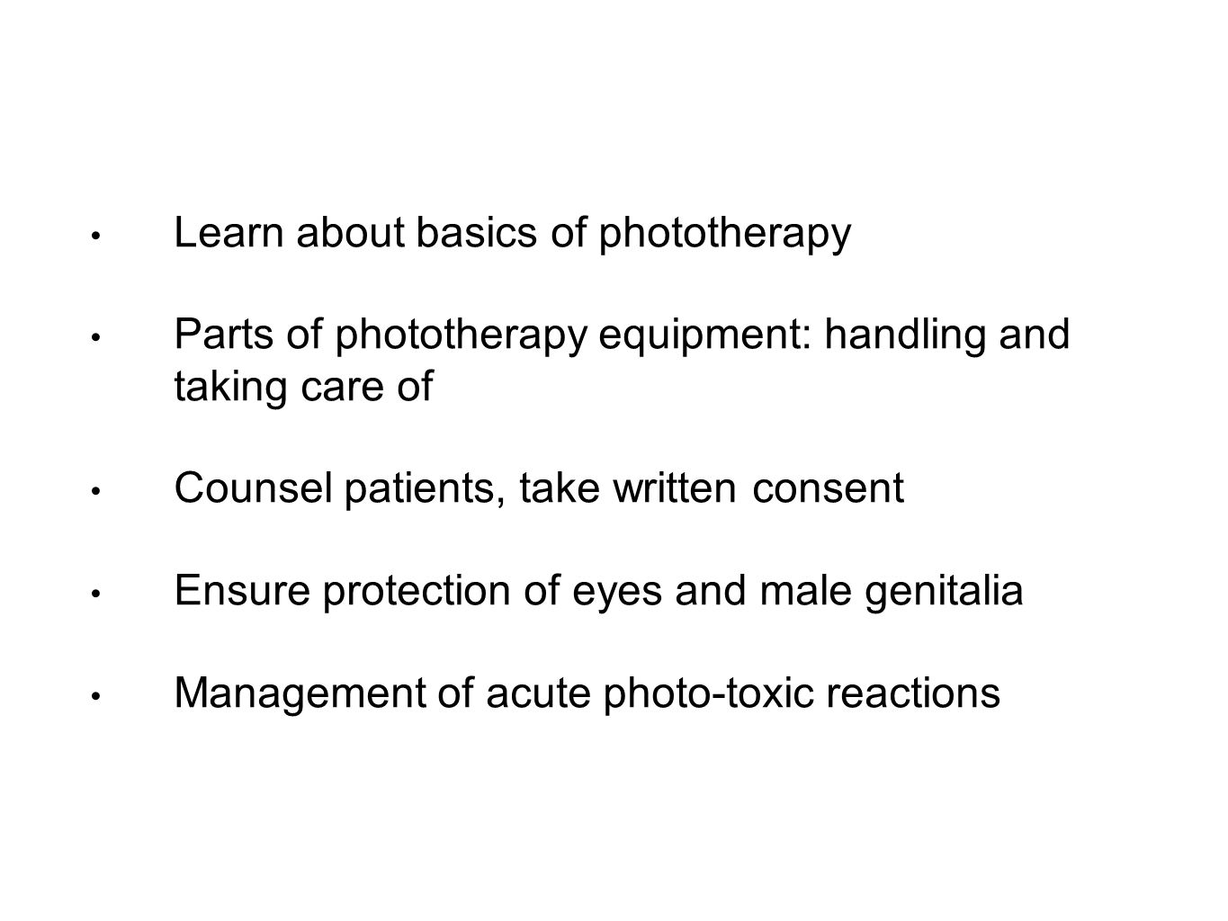 Learn about basics of phototherapy