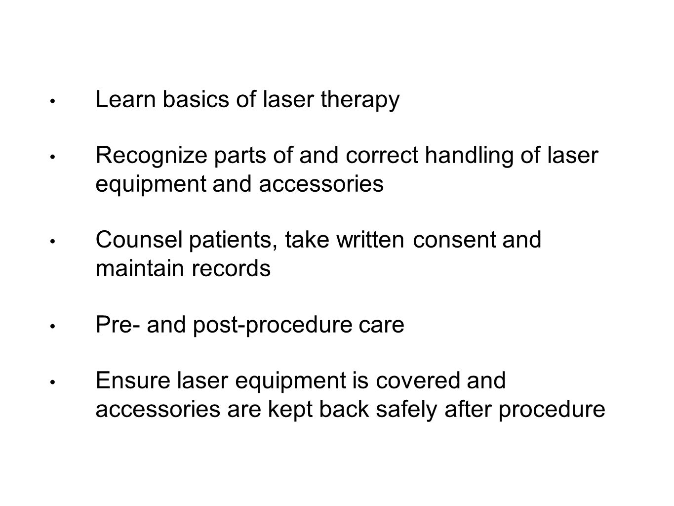 Learn basics of laser therapy