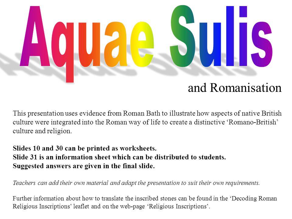 Aquae Sulis and Romanisation