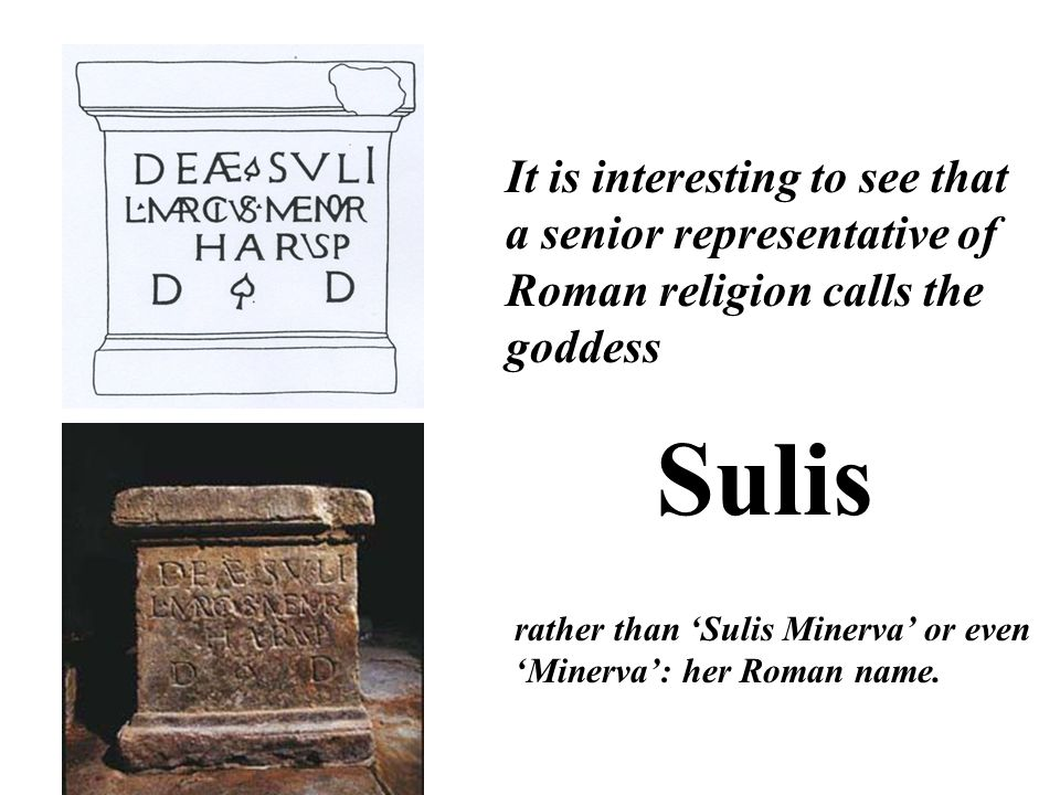 It is interesting to see that a senior representative of Roman religion calls the goddess