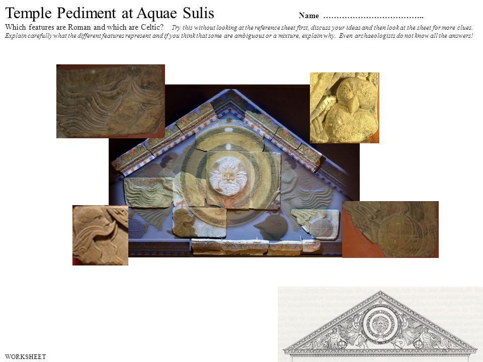 Temple Pediment at Aquae Sulis