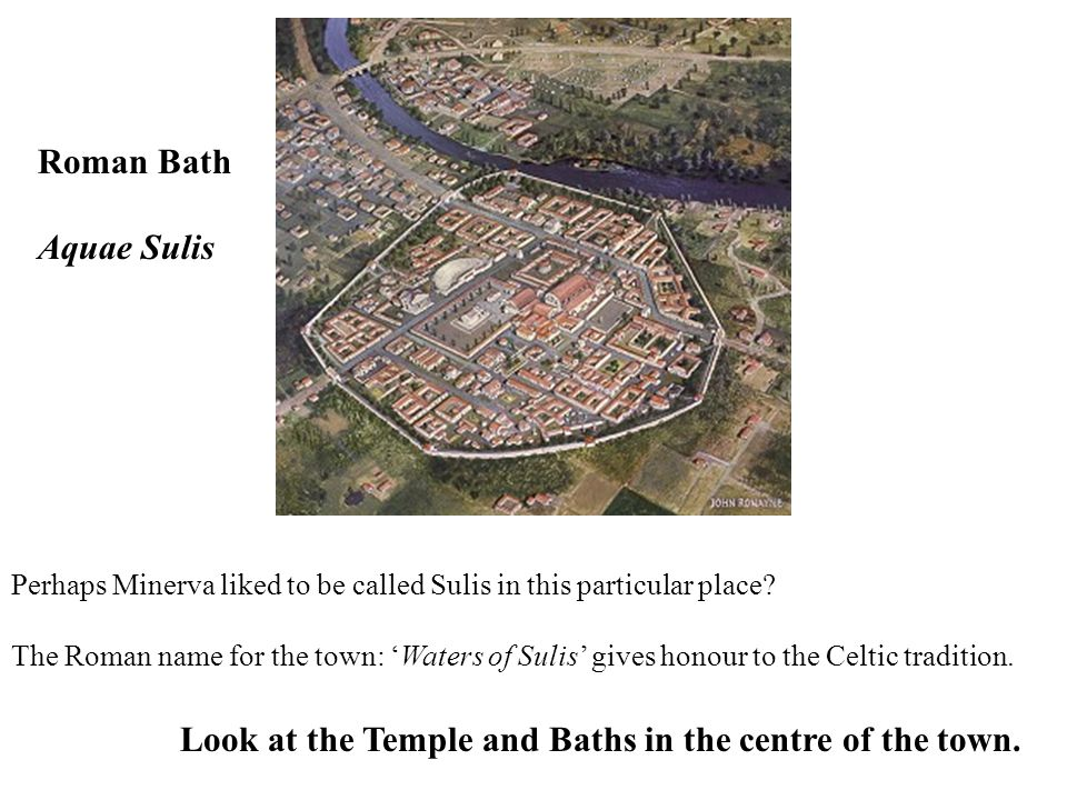 Look at the Temple and Baths in the centre of the town.