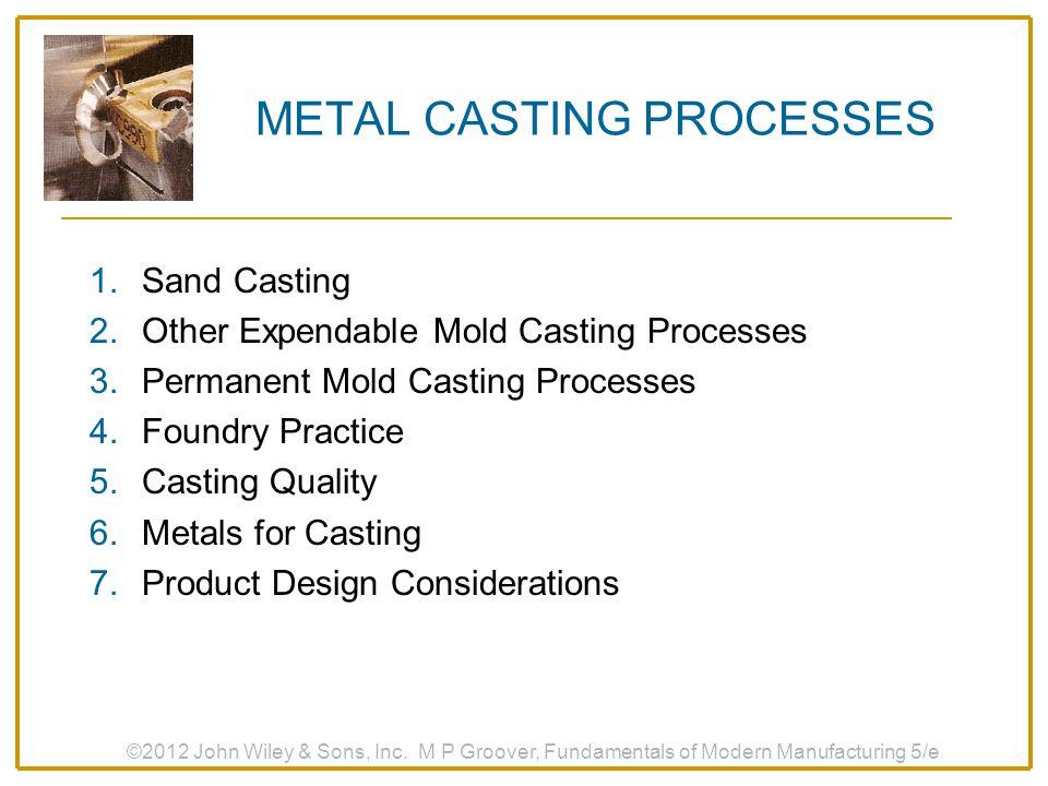 METAL CASTING PROCESSES