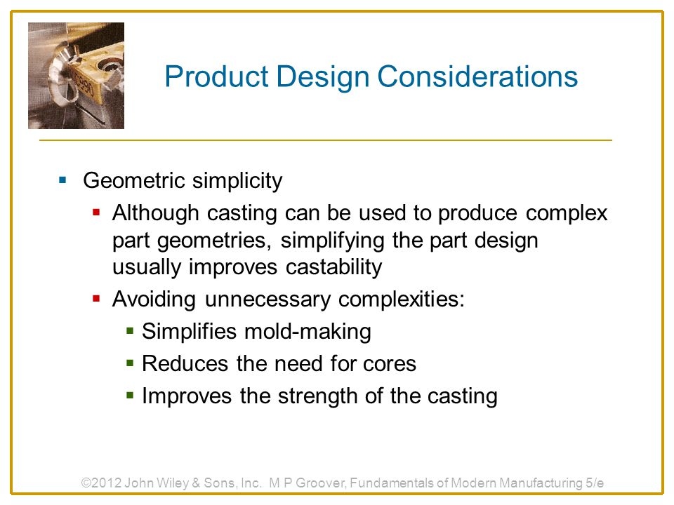 Product Design Considerations