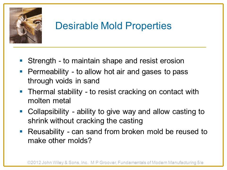 Desirable Mold Properties