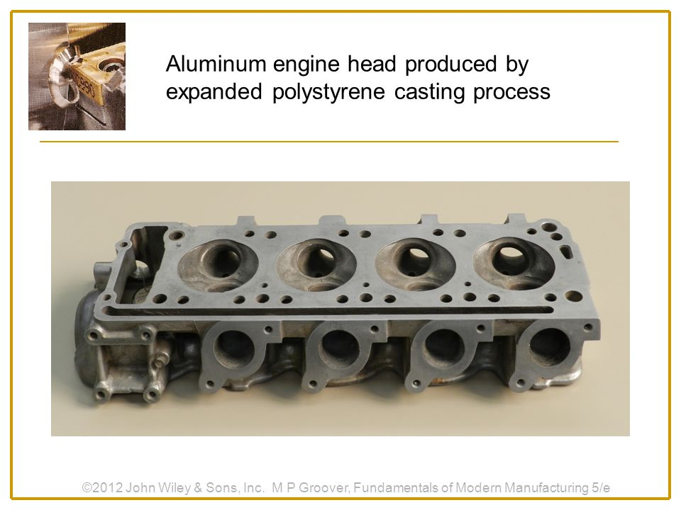 Aluminum engine head produced by expanded polystyrene casting process
