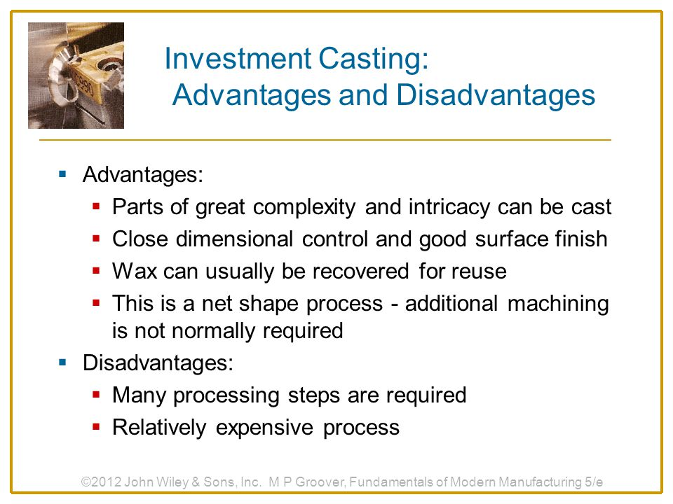 Investment Casting: Advantages and Disadvantages