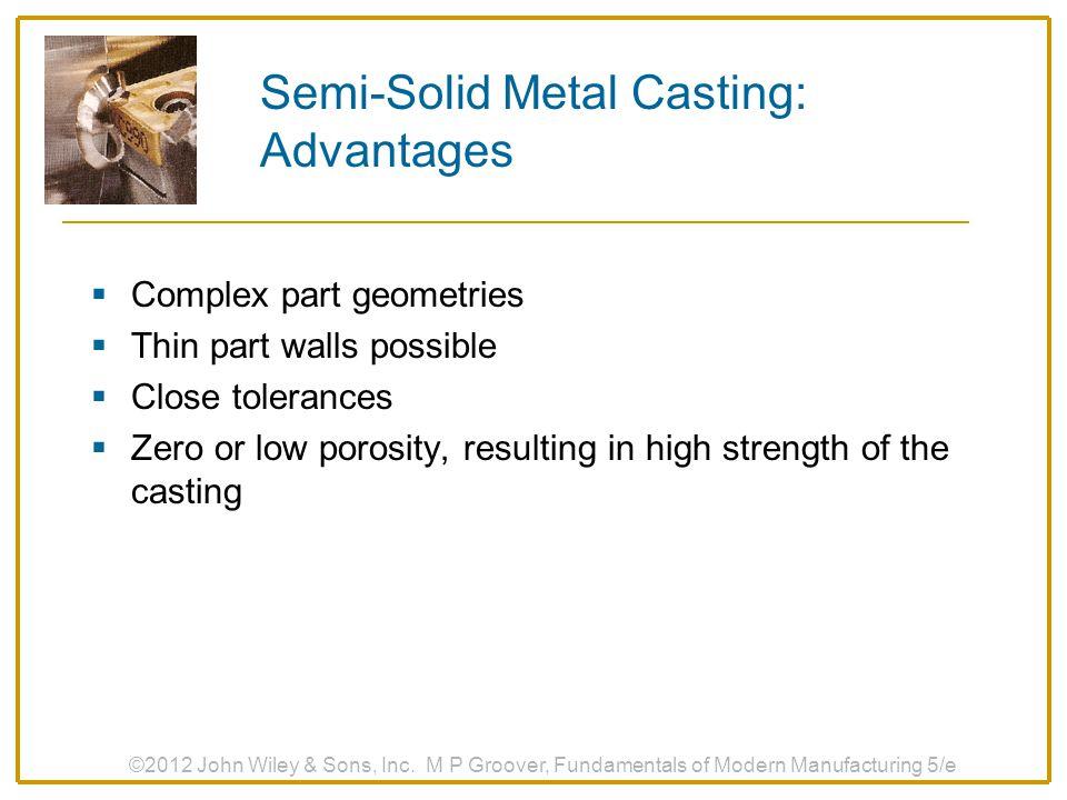 Semi-Solid Metal Casting: Advantages