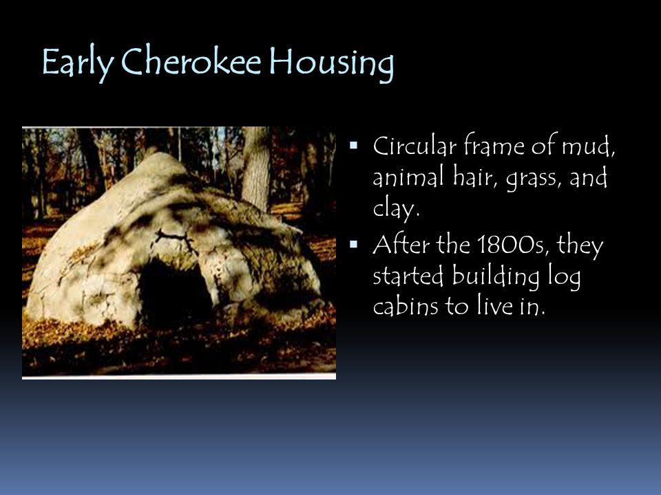 Early Cherokee Housing