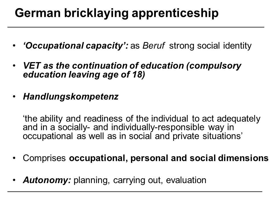 German bricklaying apprenticeship
