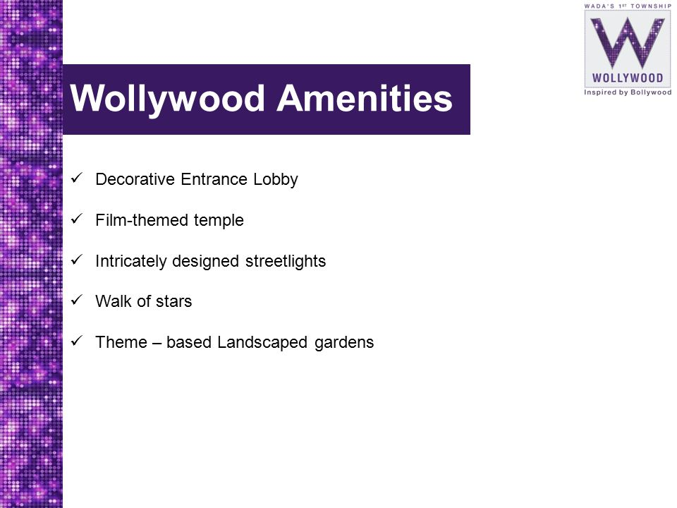 Wollywood Amenities Decorative Entrance Lobby Film-themed temple
