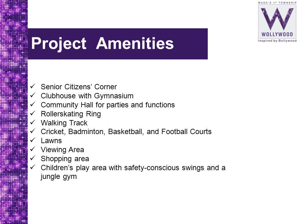 Project Amenities Senior Citizens' Corner Clubhouse with Gymnasium