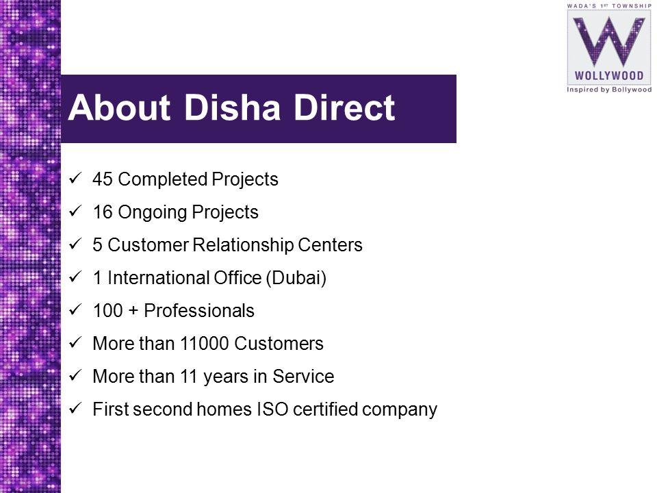 About Disha Direct 45 Completed Projects 16 Ongoing Projects