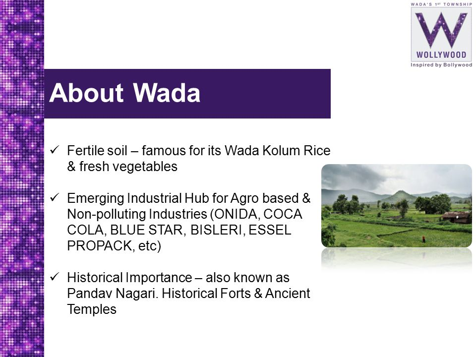 About Wada Fertile soil – famous for its Wada Kolum Rice & fresh vegetables.