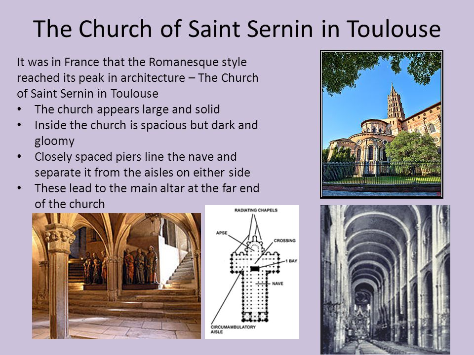The Church of Saint Sernin in Toulouse