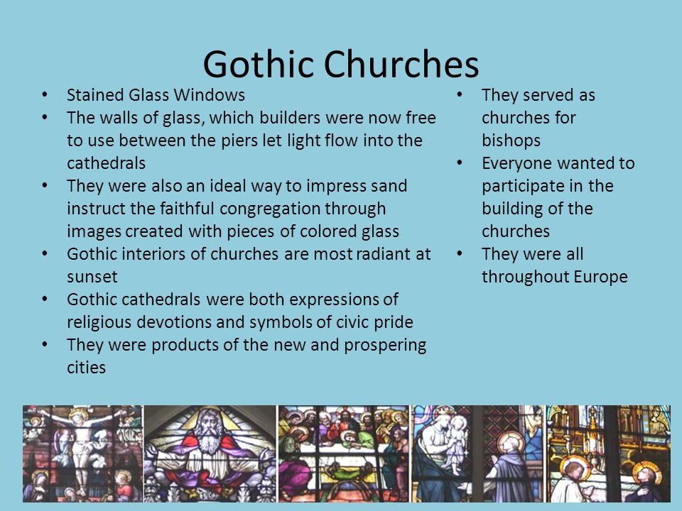 Gothic Churches Stained Glass Windows