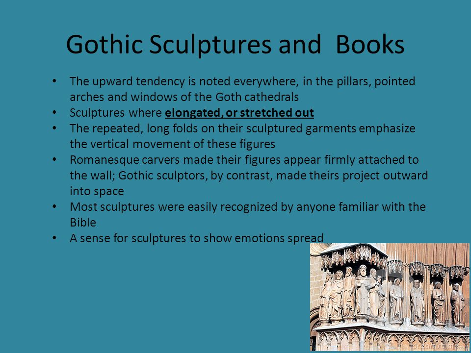 Gothic Sculptures and Books