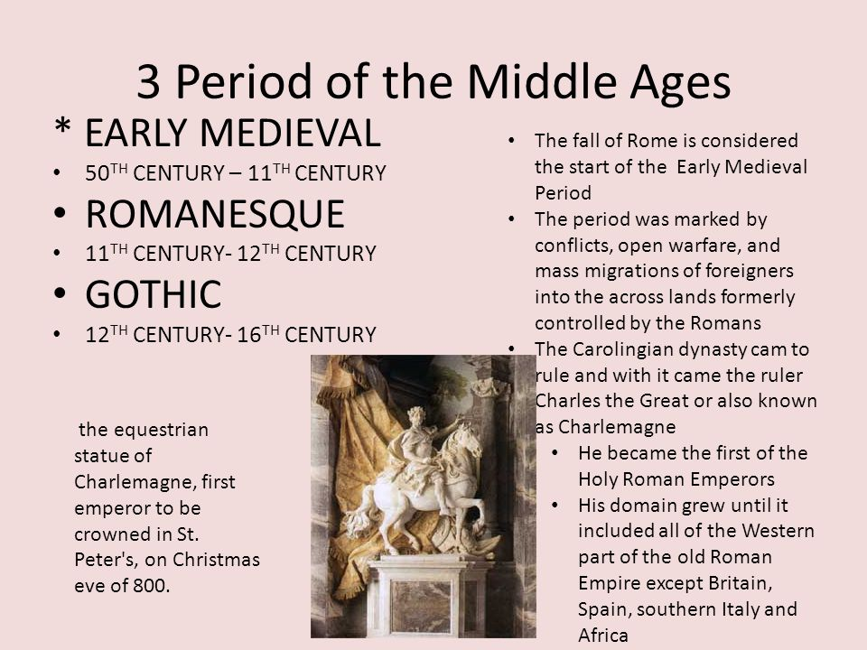 3 Period of the Middle Ages