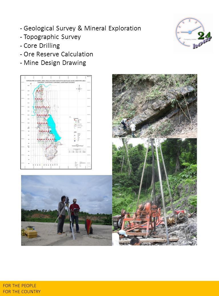 - Geological Survey & Mineral Exploration - Topographic Survey