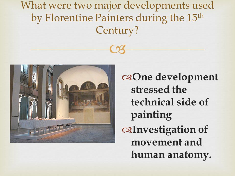 What were two major developments used by Florentine Painters during the 15th Century