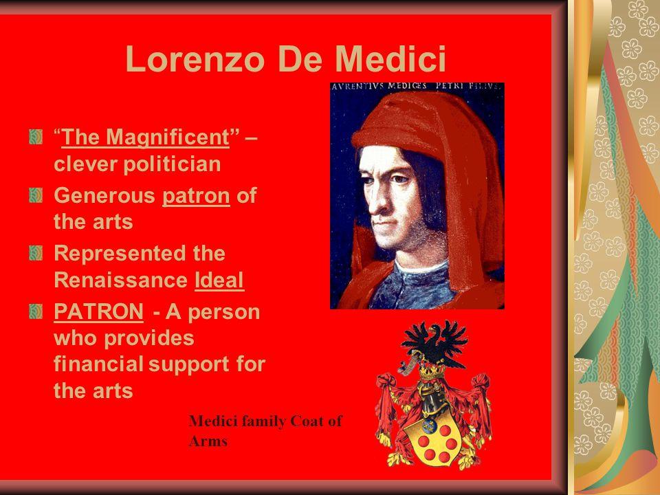 Lorenzo De Medici The Magnificent – clever politician