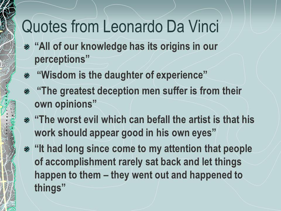 Quotes from Leonardo Da Vinci