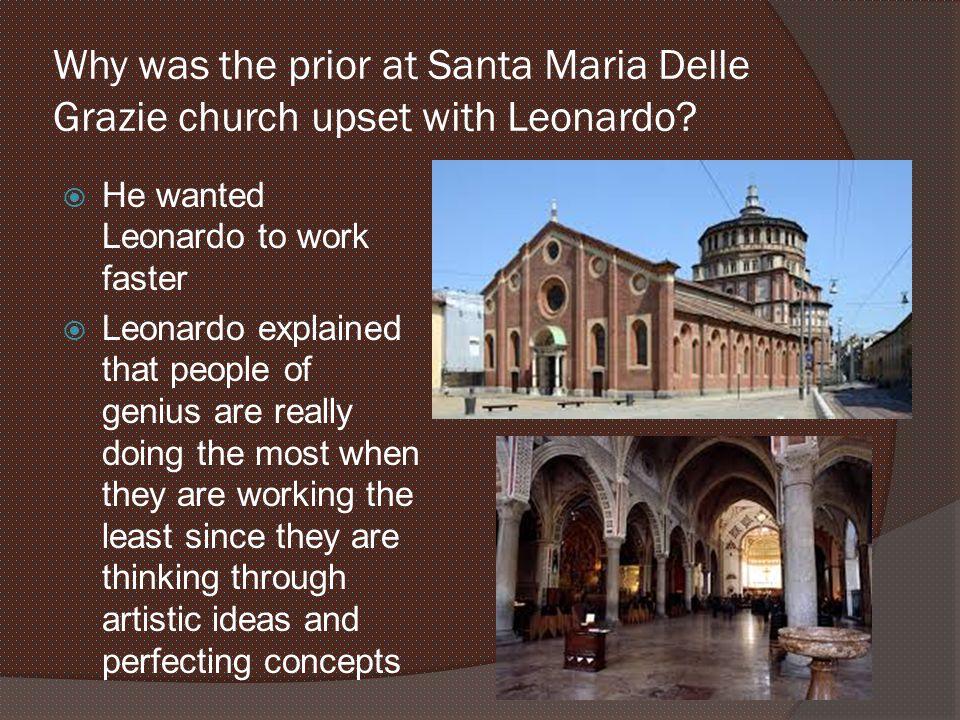 Why was the prior at Santa Maria Delle Grazie church upset with Leonardo