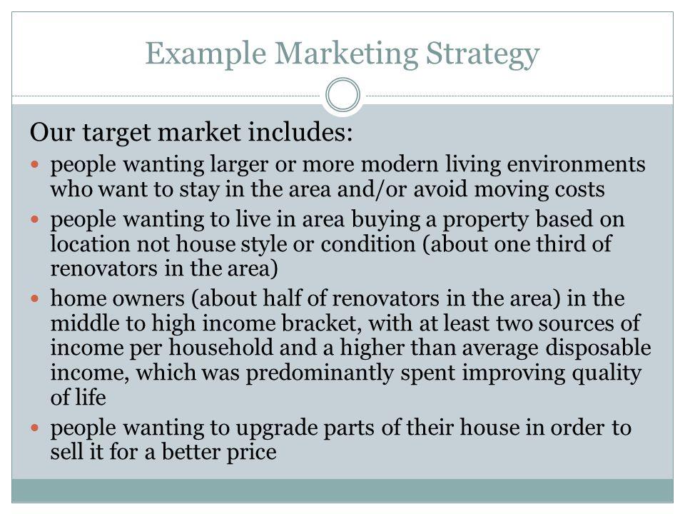 Example Marketing Strategy