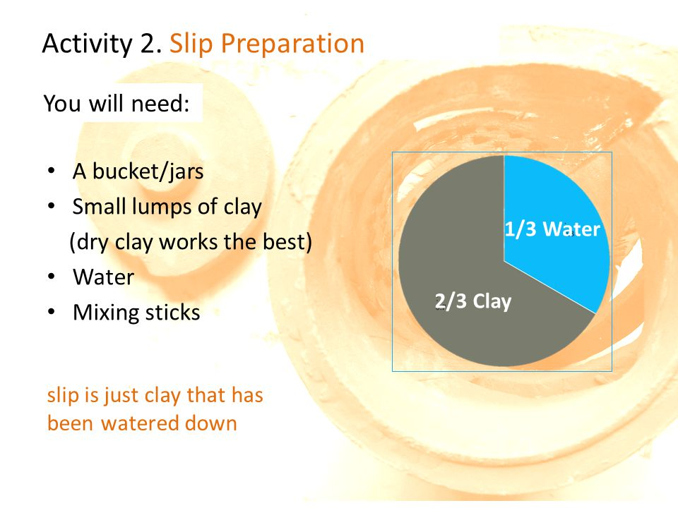 Activity 2. Slip Preparation