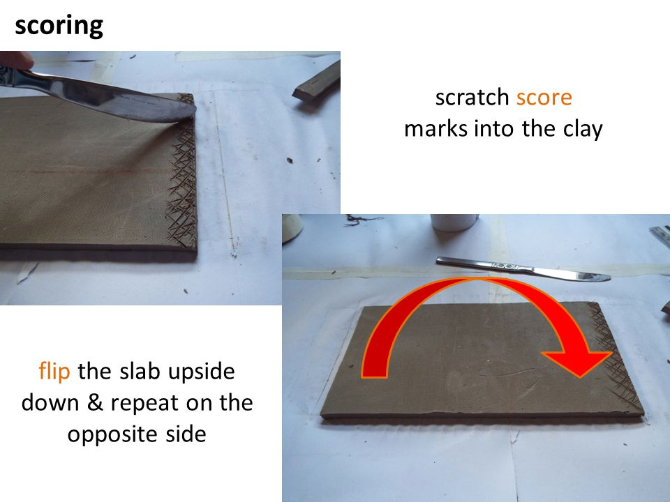 flip the slab upside down & repeat on the opposite side