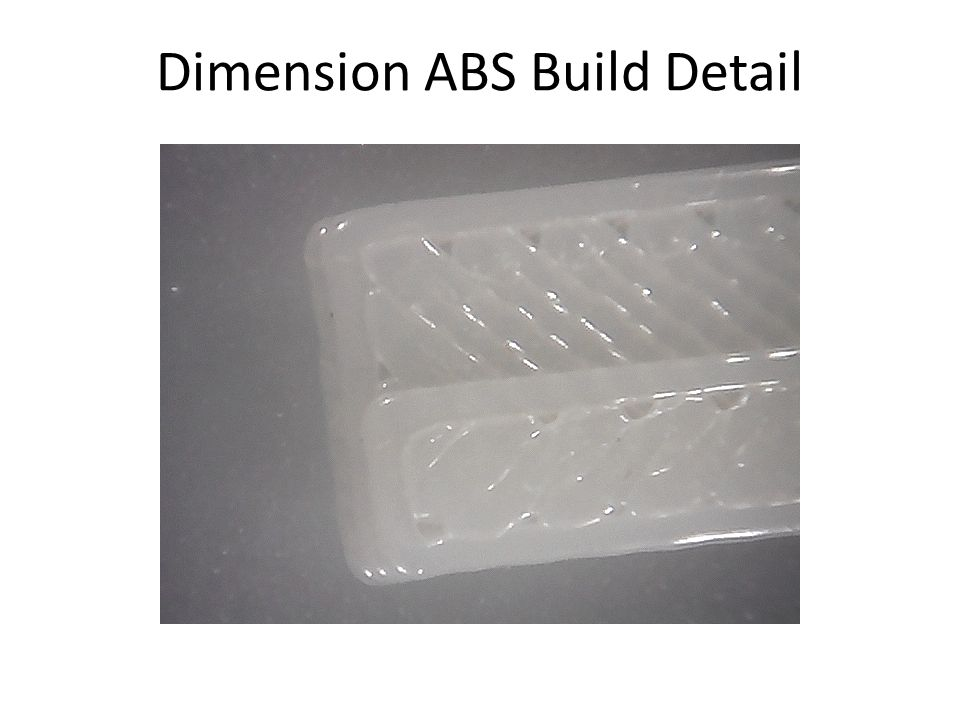 Dimension ABS Build Detail