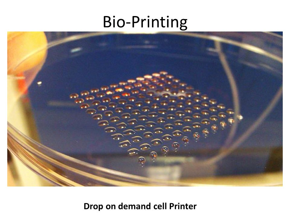 Drop on demand cell Printer