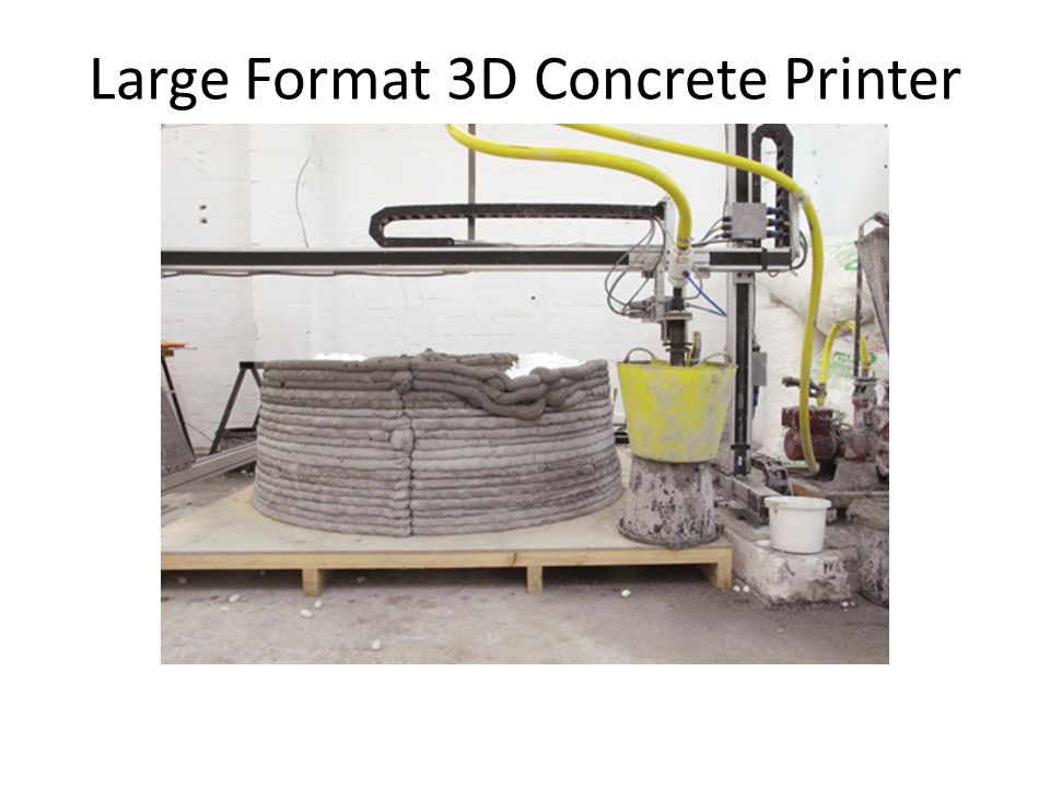 Large Format 3D Concrete Printer