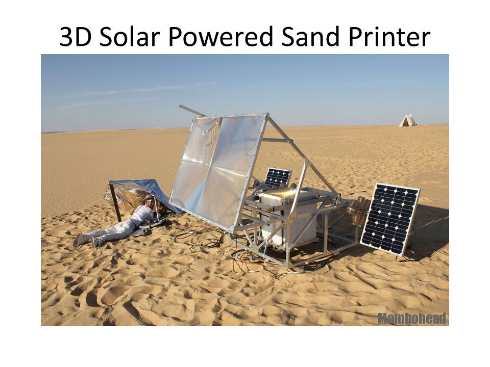 3D Solar Powered Sand Printer